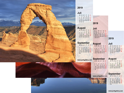 Bildschirmkalender, USA, National­parks im Westen der USA
