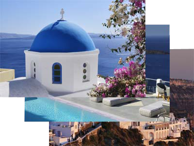 Bildschirmschoner, Screen Saver, <TXTDE>Griechische Kykladen Mykonos und Santorin</TXTDE><TXTEN>Greek Cyclades Mykonos and Santorin</TXTEN>